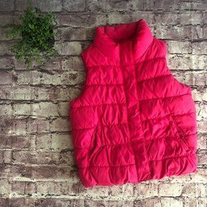 Gap Youth hot pink puffer vest 10